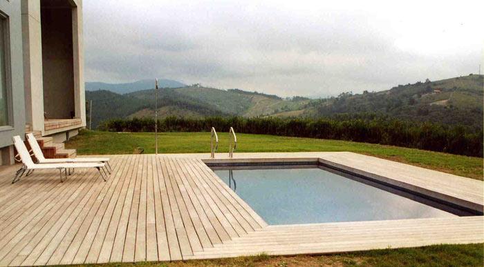 Piscinas madera piscinas madera piscina desmontable gre - Madera para piscinas ...